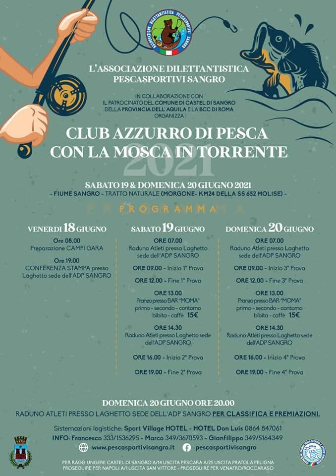 Club Azzurro di pesca con la mosca in torrente 2021   Castel di Sangro